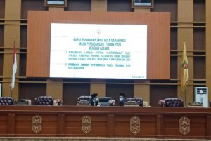 DPRD Samarinda Gelar Rapat Paripurna Bahas Evaluasi Laporan Raperda APBD 2021 Hingga Perombakan Sejumlah Fraksi