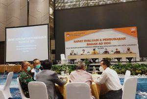 KPU Samarinda Laksanakan Rapat Evaluasi Bersama Badan Ad Hoc Pada Pemilihan Serentak Walikota dan Wakil Walikota 2020.