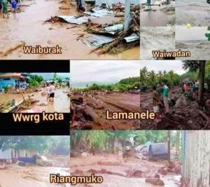 Banjir Bandang Melanda Pulau Adonara -Flotim, Puluhan Warga Dilaporkan Meninggal Dunia