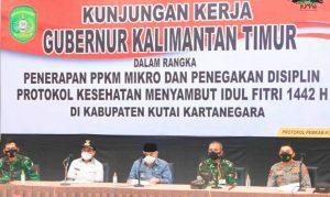 Pengamanan Jelang Hari Raya Idul Fitri 1442 H, Isran Noor Lakukan Monitoring Bersama Kapolda dan Pangdam