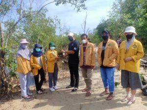 Lestarikan Lingkungan Pantai, Mahasiswa KKN Unmul Lakukan Kegiatan Penanaman Mangrove di Samboja